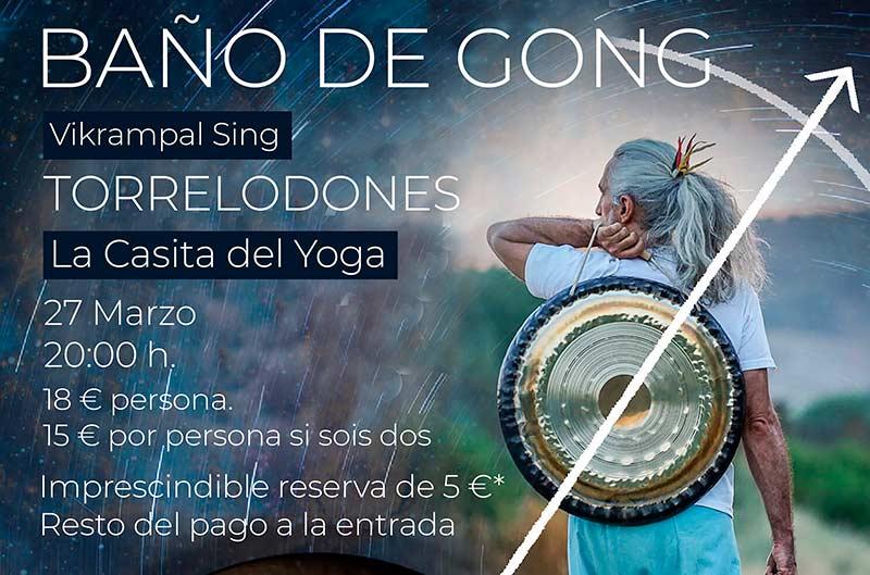 Baño de Gong en la casita del yoga, 27 marzo 2020